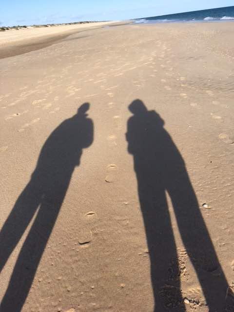 Pedras beach shadows